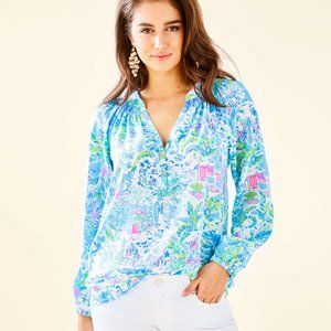 Lilly Pulitzer Elsa Silk Top, What a Lovely Place